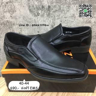 รองเท้าคัชชูหนังผู้ชาย  สีดำ  ทรงสุภาพ วัสดุหนังPU อย่างดี  รูปที่ 3