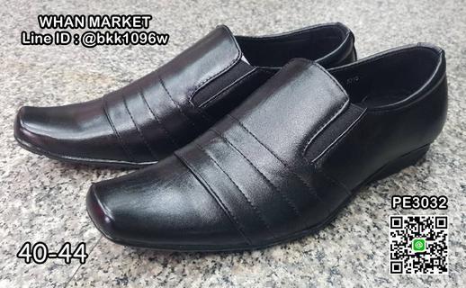 รองเท้าคัชชูหนังผู้ชาย วัสดุหนังPU คุณภาพดี แบบสวม ใส่เบาสบา รูปที่ 2