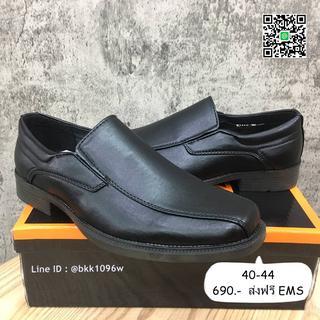 รองเท้าคัชชูหนังสีดำ แฟชั่นผู้ชาย วัสดุหนังPU อย่างดี แบบสวม รูปที่ 3