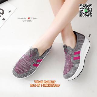 รองเท้าผ้าใบเสริมส้น 2 นิ้ว วัสดุผ้าใบอย่างดี พื้นยาง  รูปที่ 5