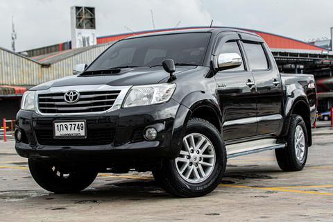 ปี 2012 toyota vigo 2.5e prerunner double cab vn turbo at สีดำ รูปที่ 1