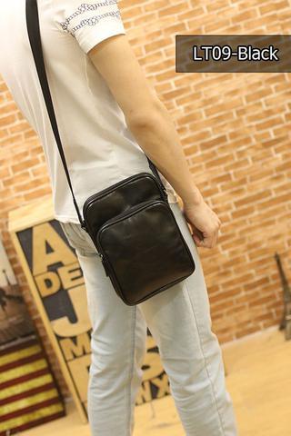 กระเป๋าหนังPU สะพายข้างสีดำ รูปที่ 1