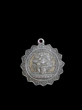 เหรียญต้นโพธิ์ศรีมหาโพธิ์ จังหวัดปราจีนบุรี ปี 2503  พิธีใหญ่ หลวงพ่อเส็ง  วัดป่ามะไฟ และหลวงปู่ทิม  วัดละหารไร่  รูปที่ 1