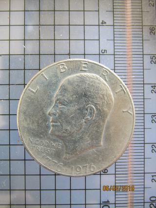 5234 เหรียญกษาปณ์ที่ระลึก 1 Dollar United States (1976) รูปที่ 2