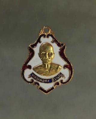 เหรียญหลวงพ่อคง วัดชำป่าง่าม เนื้อทองแดงลงยา ค่ะ j208 รูปที่ 1