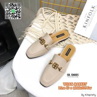 รองเท้าลำลอง เปิดส้น หนัง PU นิ่ม สีโทนนู้ด ใส่แล้วขาขาว  รูปที่ 6