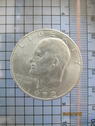 5235 เหรียญ1 Dollar United States (1972) หลังดาว  นก  นกอินท รูปที่ 2