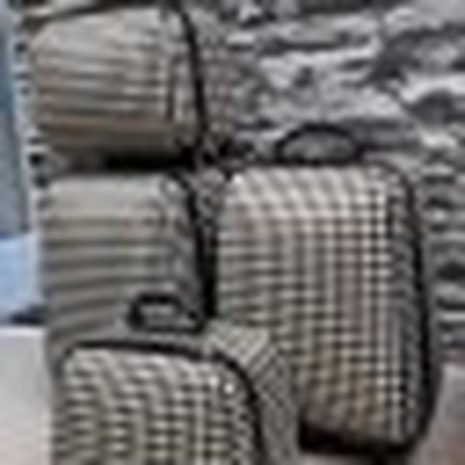กระเป๋าเดินทางแบบผ้า เซ็ทคู่ 18/13 นิ้ว ลาย Khaki/Brown รูปที่ 5