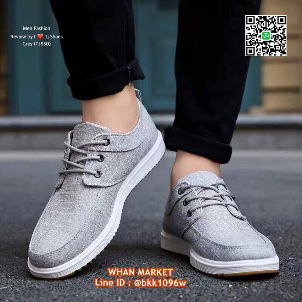 รองเท้าผ้าใบผู้ชาย วัสดุผ้าใบอย่างดี น้ำหนักเบา ใส่นิ่ม  รูปที่ 4