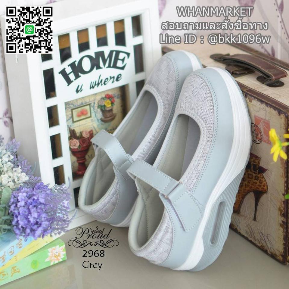 รองเท้าสุขภาพ ตัดเย็บด้วยผ้าตะข่ายและหนังพียูอย่างดี สายคาดแบบเมจิกเทป รูปที่ 3