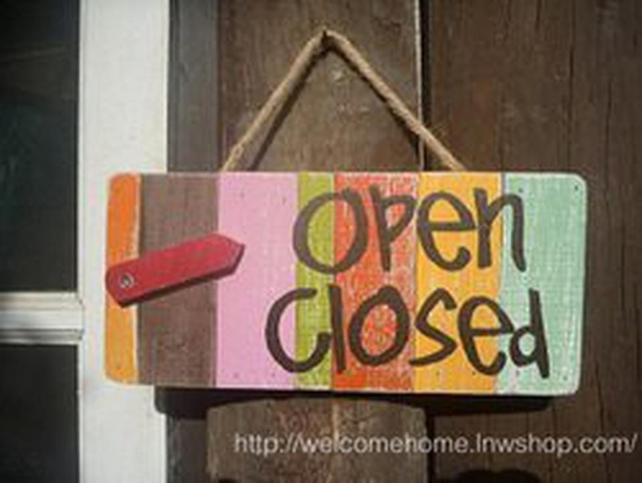 ป้ายเปิด-ปิดสวยๆสำหรับตกแต่งหน้าร้านอาหารตามสั่งร้านกาแฟครับ รูปที่ 1