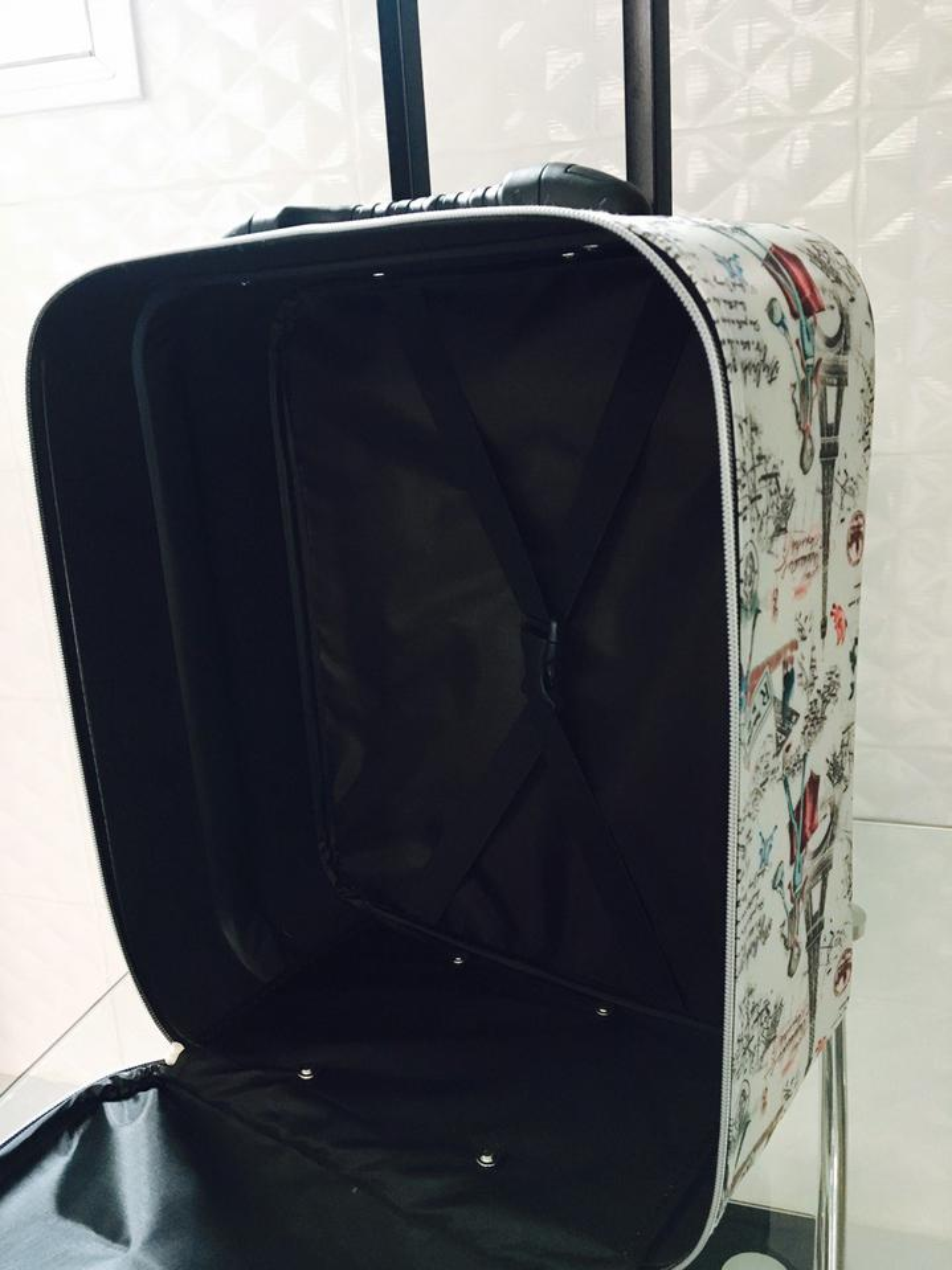 กระเป๋าเดินทางแบบผ้า ลายหอไอเฟล 16 นิ้ว รูปที่ 6