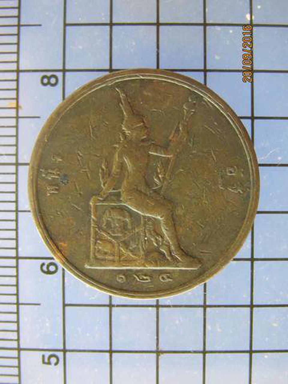 3890 เหรียญ ร.5 ทองแดง หนึ่งอัฐ รศ.124 หลังพระสยามเทวาธิราช  รูปที่ 1