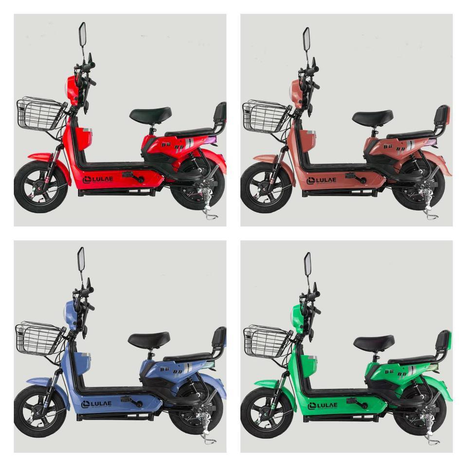 💥(จำนวนจำกัด) จักรยานไฟฟ้า สกูตเตอร์ไฟฟ้า มีที่ปั่น พร้อมไฟเลี้ยวกระจกมองหลัง มี 8 สี รูปที่ 4