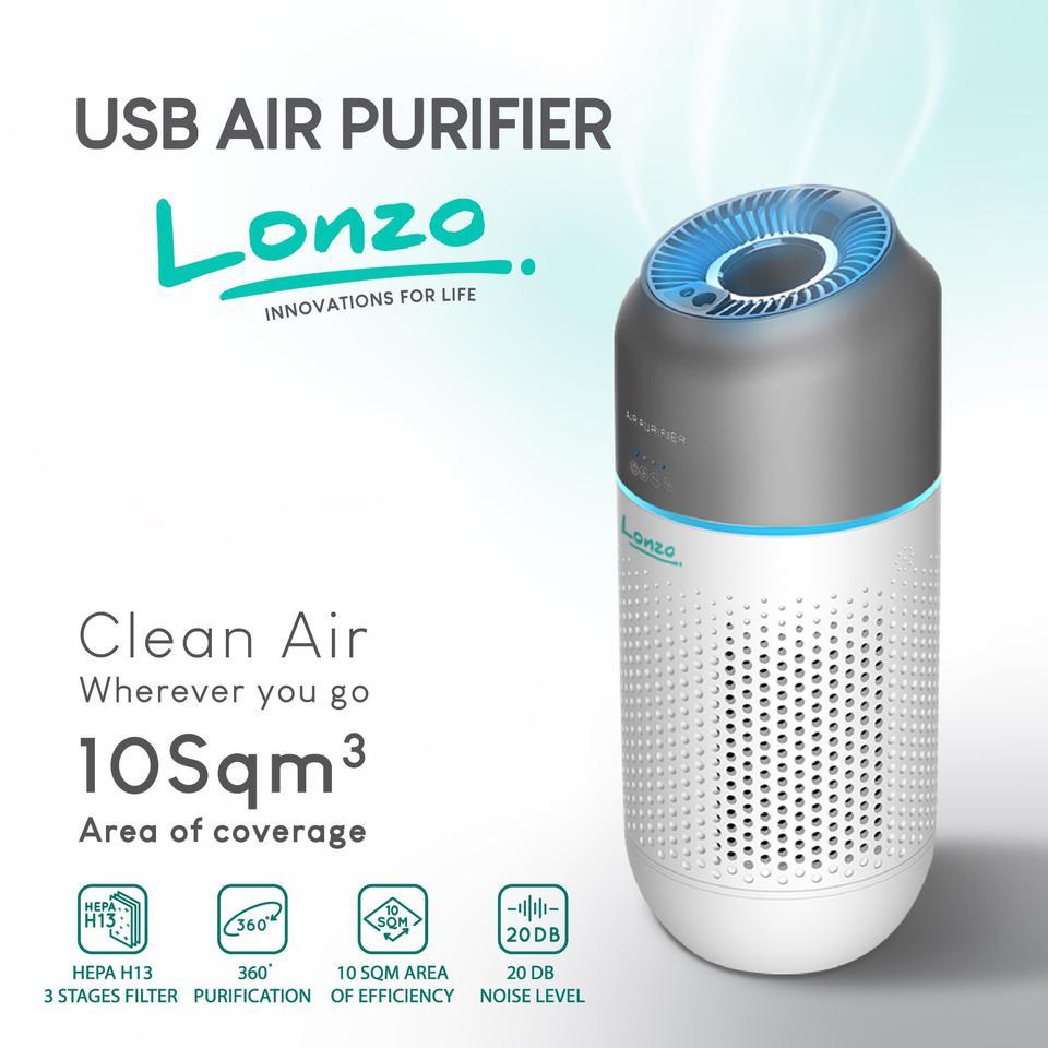 Lonzo เครื่องฟอกอากาศ USB อัจฉริยะ ประสิทธิภาพสูง รูปที่ 5