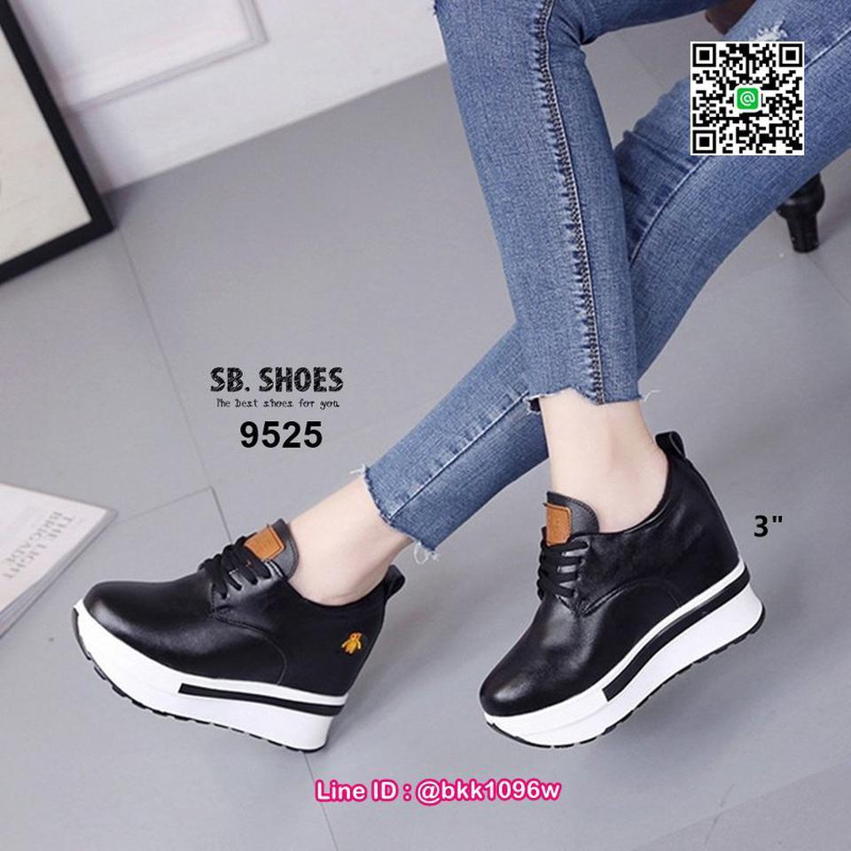 รองเท้าผ้าใบเสริมส้น 3 นิ้ว วัสดุหนัง pu คุณภาพดี  มีเชือกผู รูปที่ 5