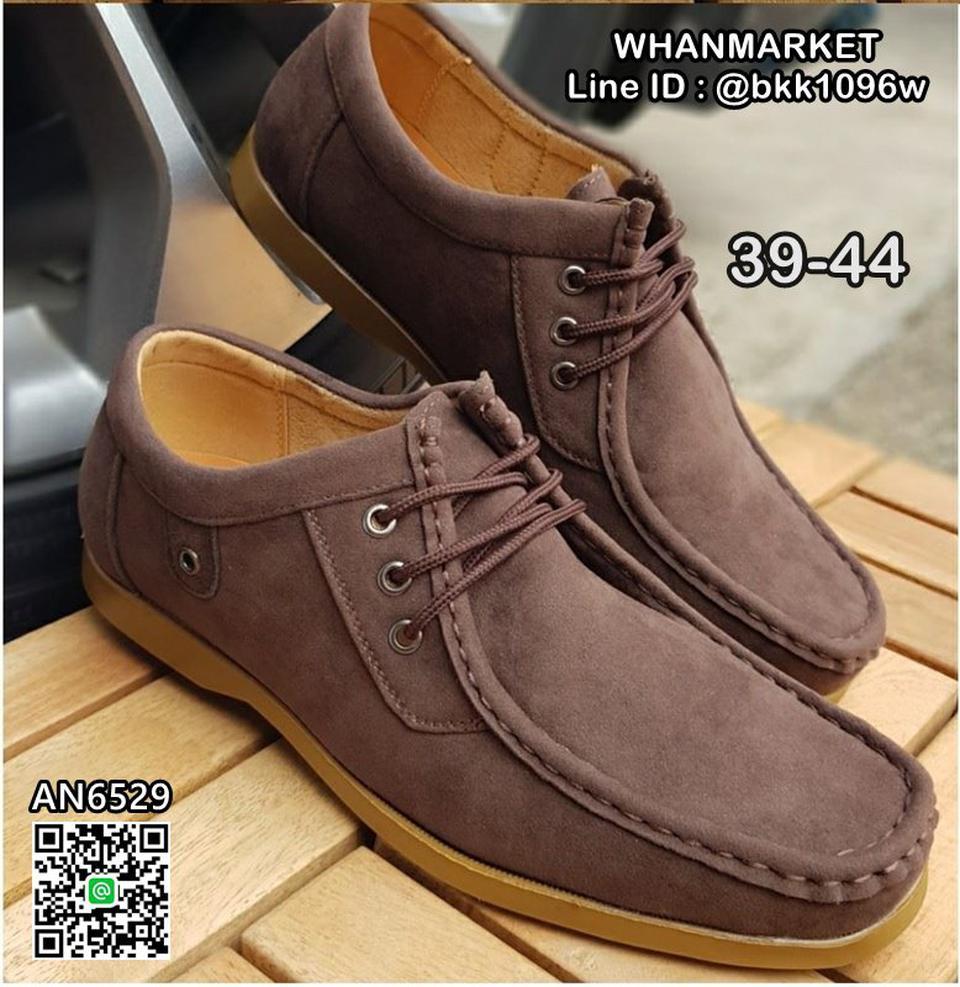 รองเท้าผ้าใบหนัง แฟชั่น แบบผูกเชือก วัสดุหนังPU คุณภาพดี  รูปที่ 4
