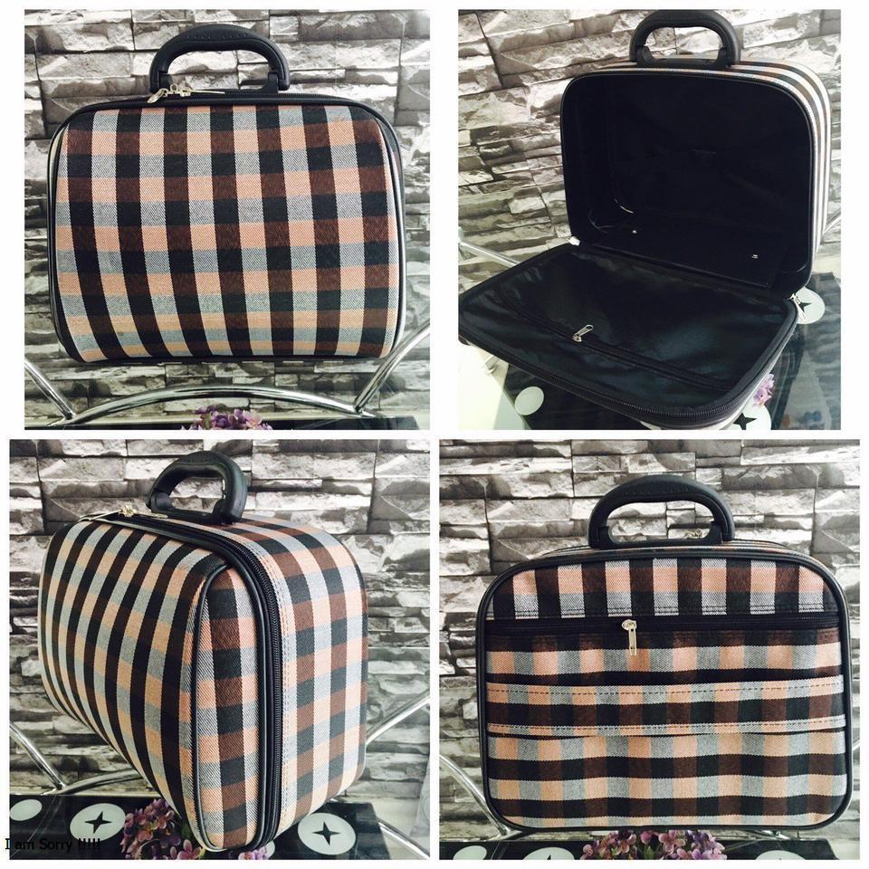 กระเป๋าเดินทางแบบผ้า 13 นิ้ว ลาย BROWN/BLACK รูปที่ 1