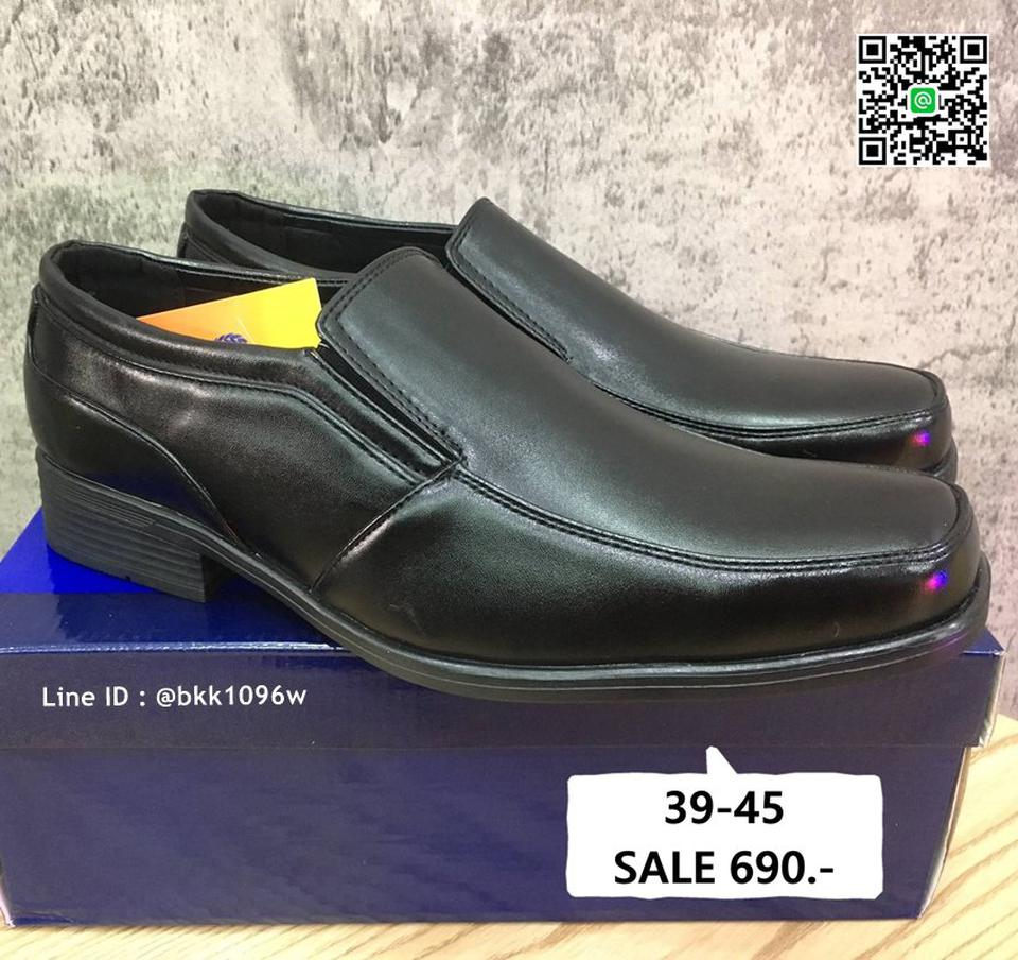 รองเท้าคัชชูสีดำ แฟชั่นผู้ชาย วัสดุหนังPU อย่างดี แบบสวม รูปที่ 3