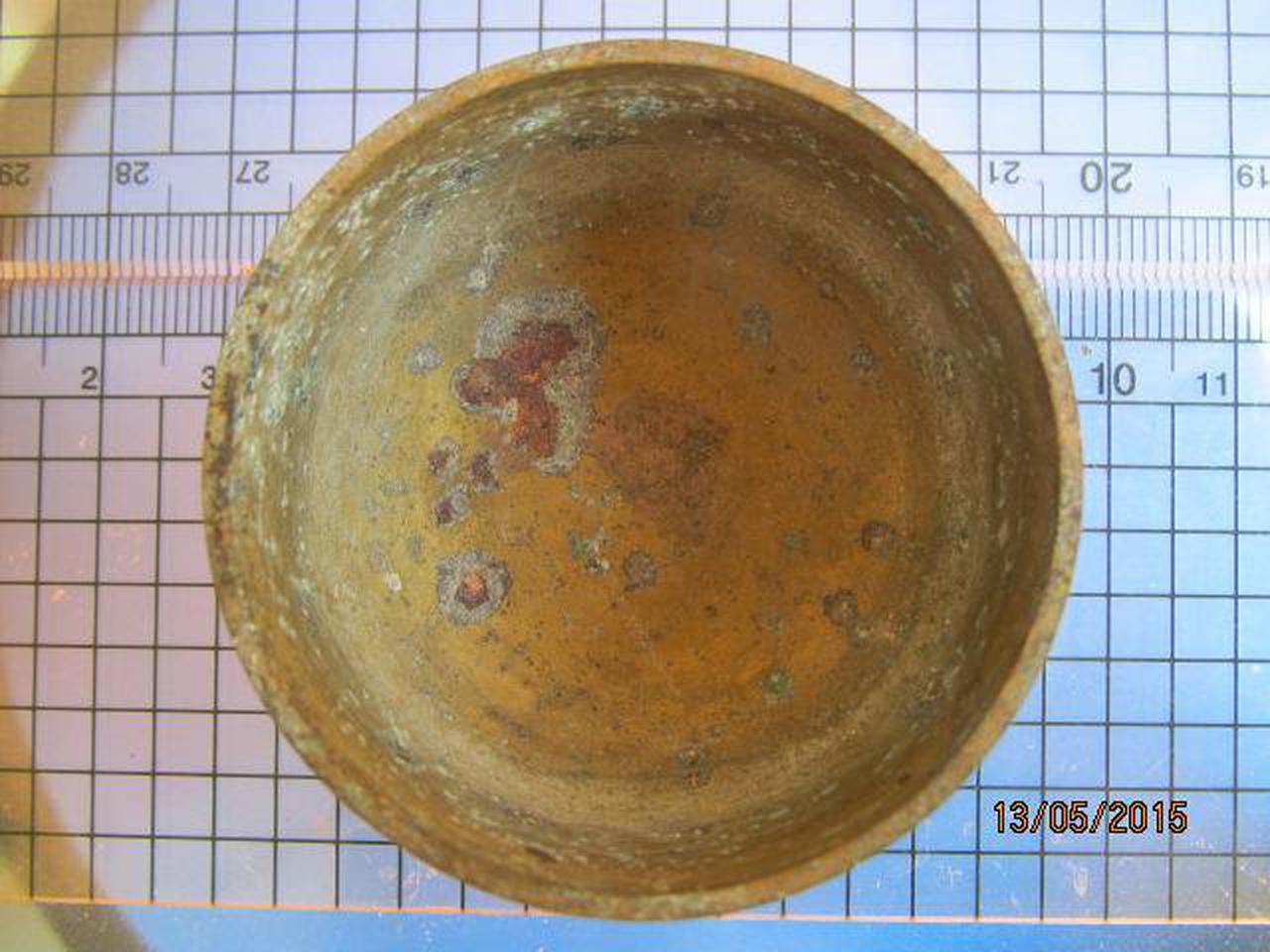 1982 ถ้วยทองเหลือง ความกว้างขนาด 2 นิ้ว สูง 1 นิ้ว ถ้วยทองเห รูปที่ 3