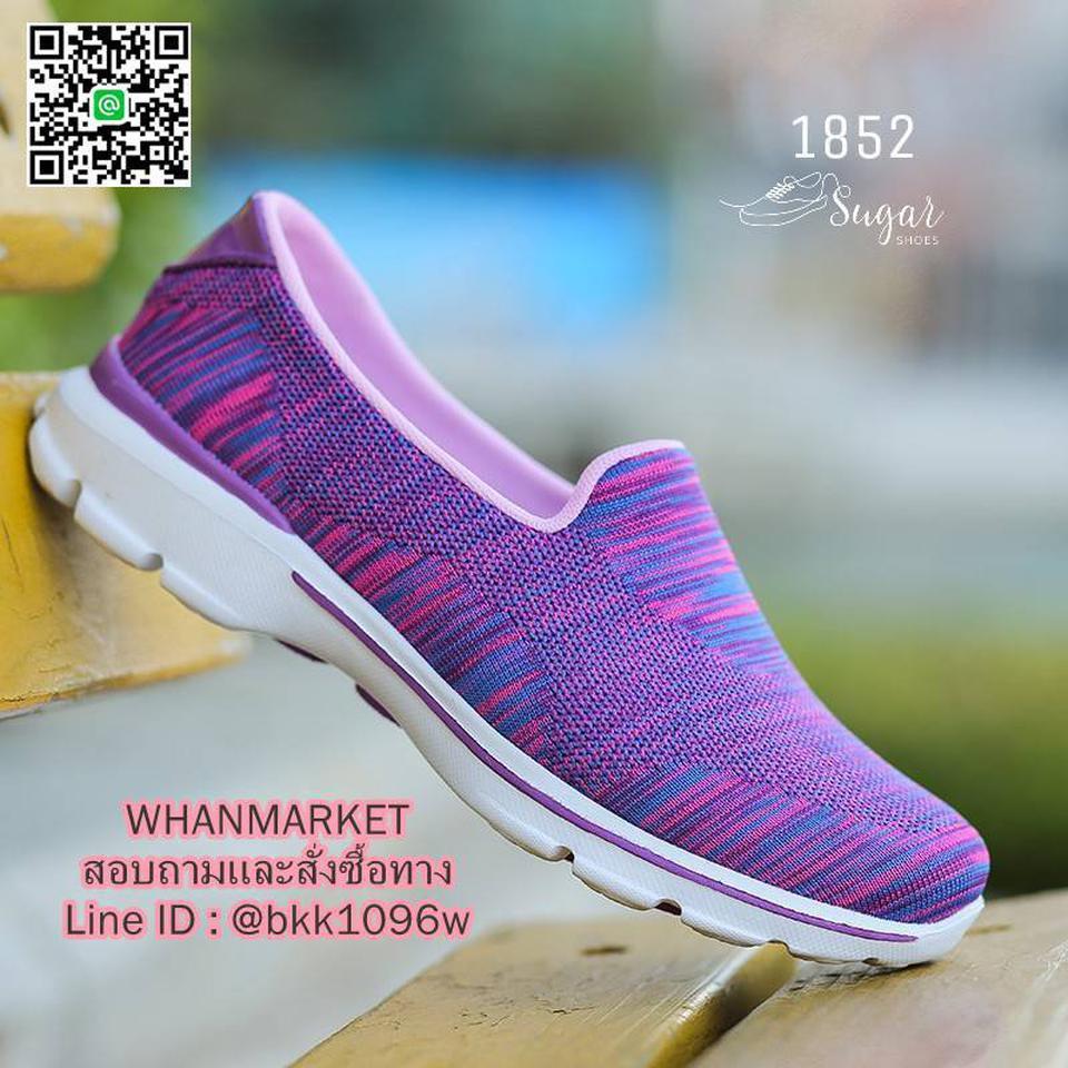 รองเท้าผ้าใบ แบบสวม ทำจากผ้ายืดทออย่างดี  พื้นนิ่มและเบามาก รูปที่ 3