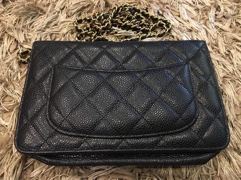 new chanel black caviar sarah wallet รูปที่ 6