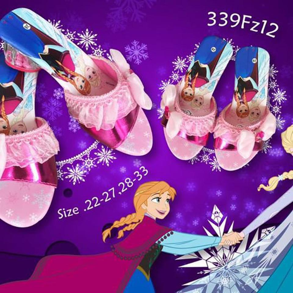 รองเท้าส้นสูง ทรงเจ้าหญิง Frozen ลิขสิทธิ์แท้ 100% รูปที่ 1