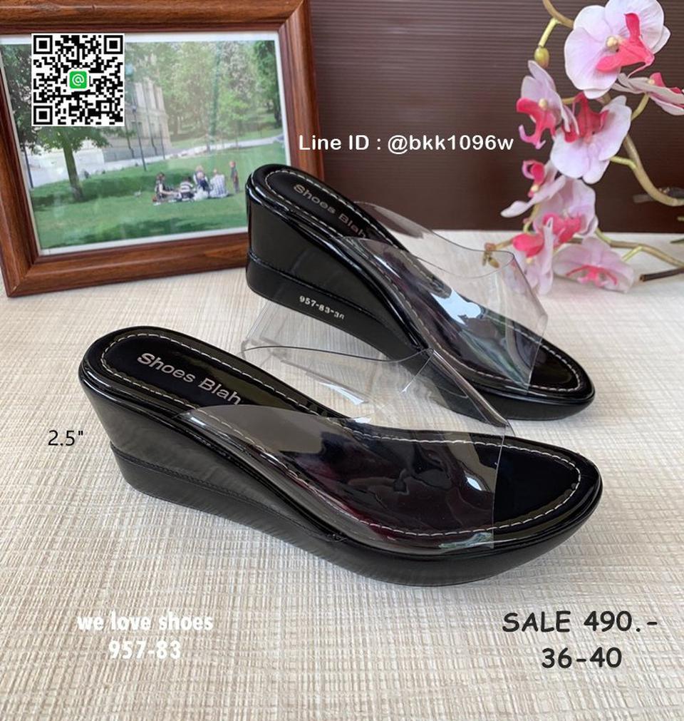 รองเท้าส้นเตารีด พลาสติกใสนิ่ม น้ำหนักเบา สูง 2.5 นิ้ว รูปที่ 5