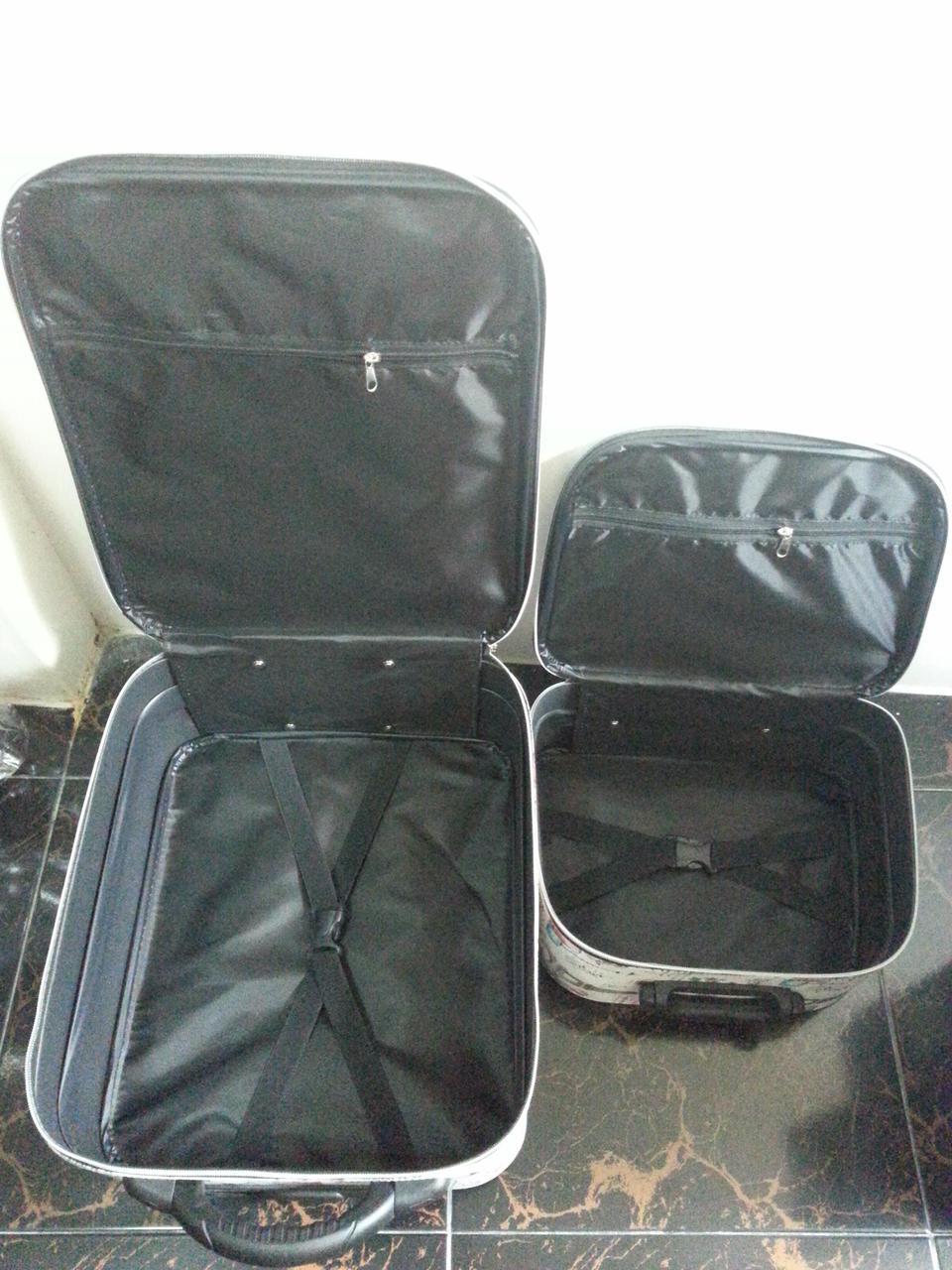 กระเป๋าเดินทางแบบผ้า ลายหอไอเฟล Set คู่ ขนาด 16 นิ้ว รูปที่ 3