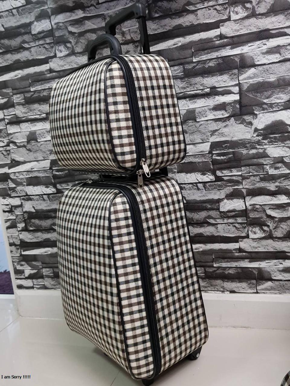 กระเป๋าเดินทางแบบผ้า เซ็ทคู่ 18/13 นิ้ว ลาย Khaki/Brown รูปที่ 3