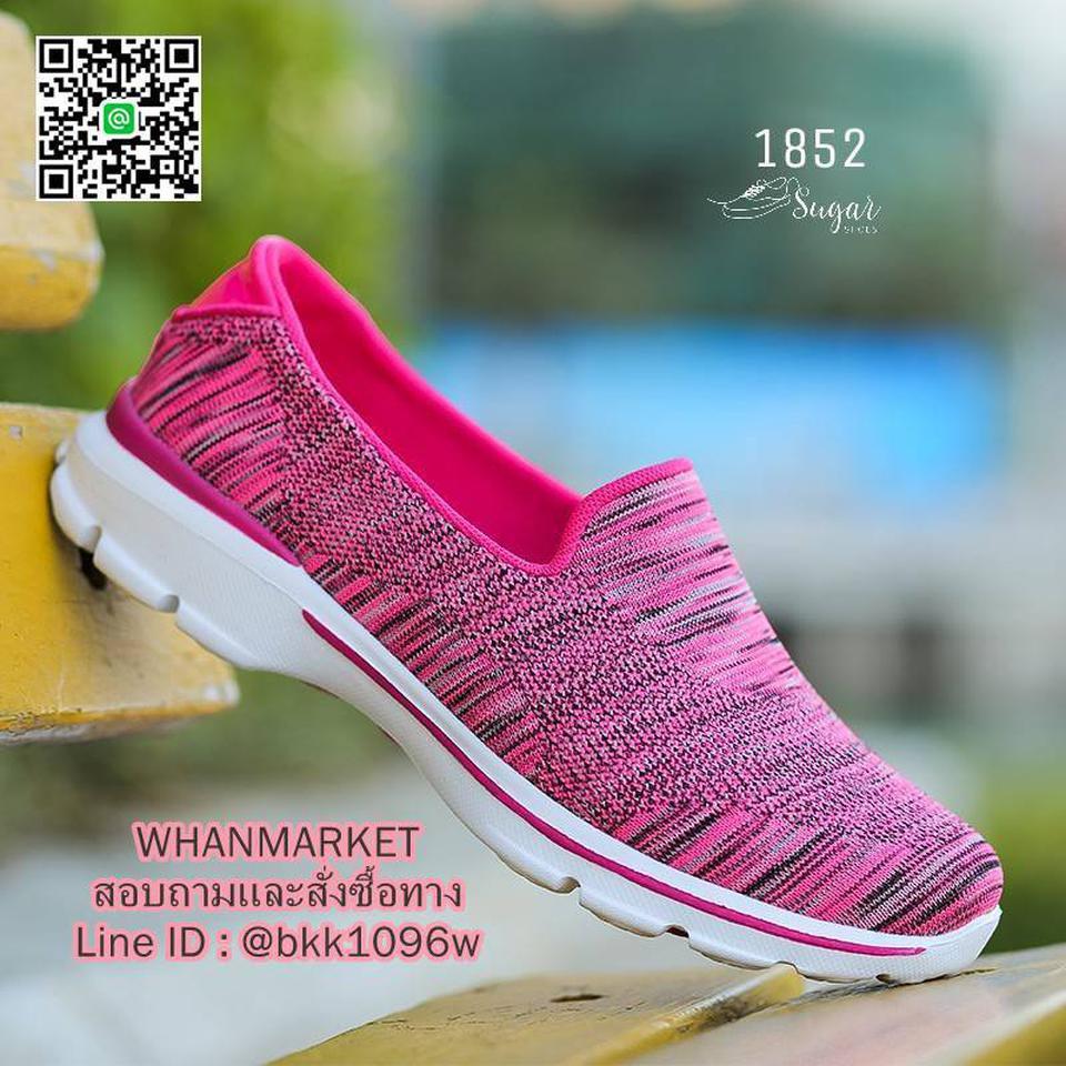 รองเท้าผ้าใบ แบบสวม ทำจากผ้ายืดทออย่างดี  พื้นนิ่มและเบามาก รูปที่ 5