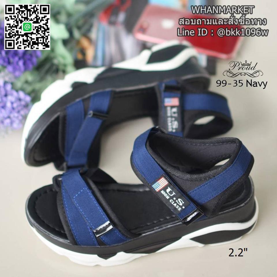 """รองเท้าลำลองส้นแบน วัสดุผ้าไมโครไฟเบอร์ พื้นพียูนิ่มๆ ดีเทลสายคาดหน้า สูง 2.2"""" รูปที่ 6"""
