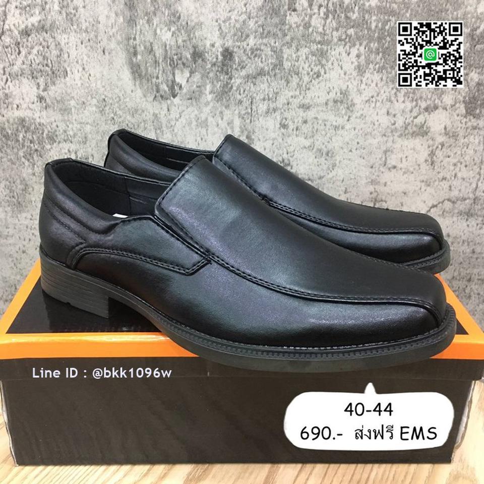 รองเท้าคัชชูหนังสีดำ แฟชั่นผู้ชาย วัสดุหนังPU อย่างดี แบบสวม รูปที่ 1