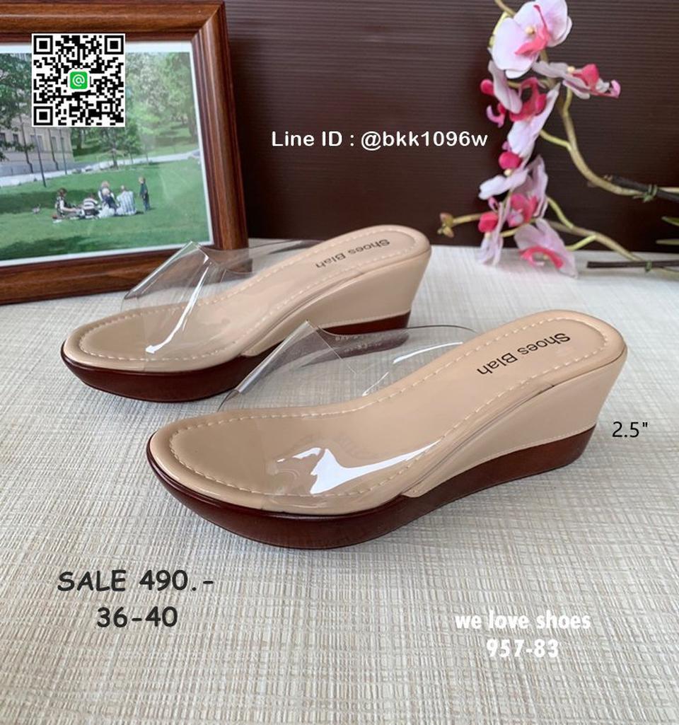 รองเท้าส้นเตารีด พลาสติกใสนิ่ม น้ำหนักเบา สูง 2.5 นิ้ว  รูปที่ 1