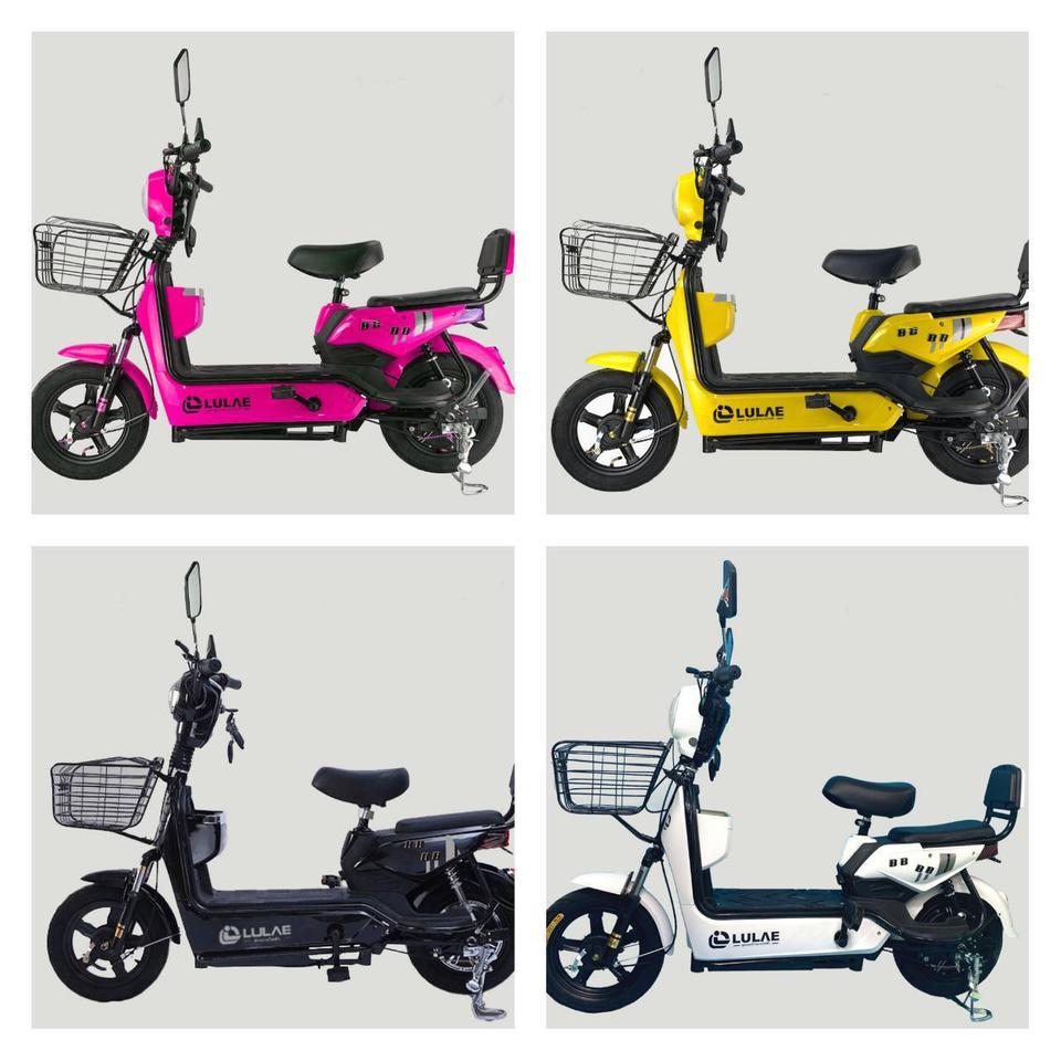 💥(จำนวนจำกัด) จักรยานไฟฟ้า สกูตเตอร์ไฟฟ้า มีที่ปั่น พร้อมไฟเลี้ยวกระจกมองหลัง มี 8 สี รูปที่ 5