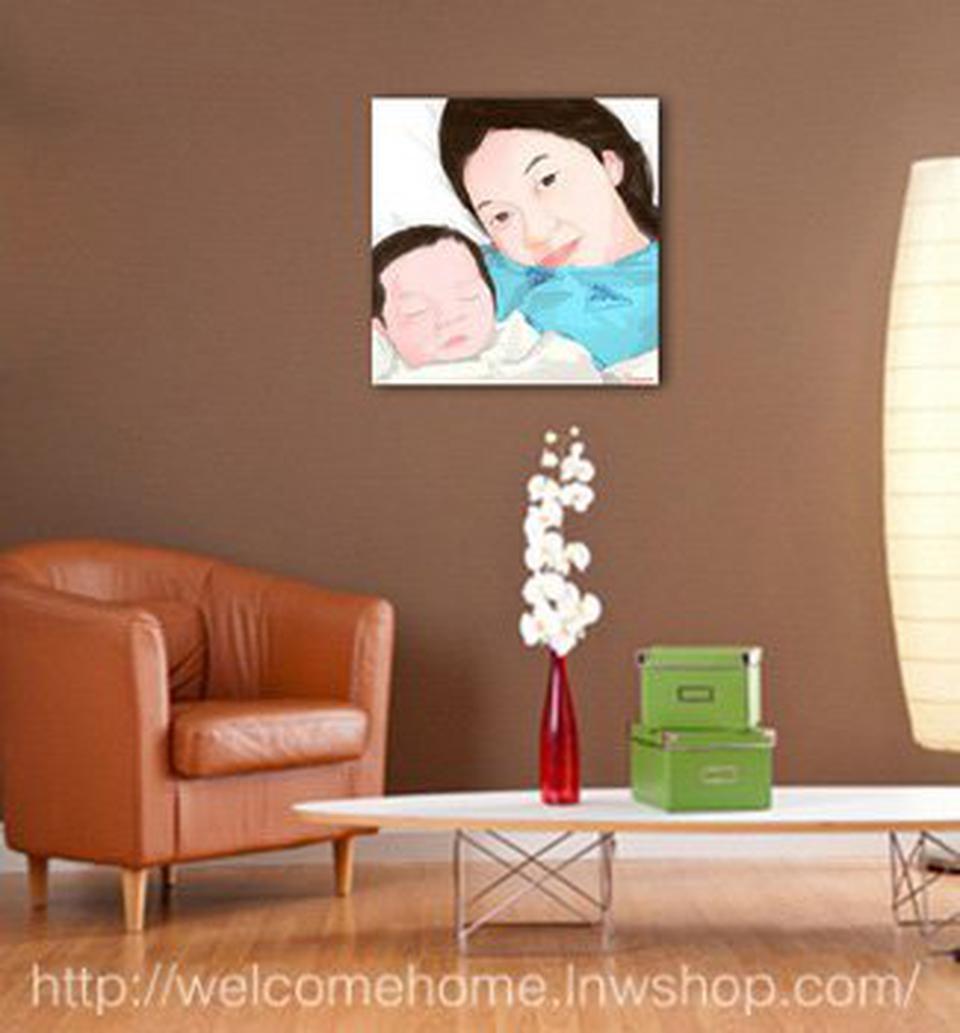 แต่งห้องนอนเล็กๆด้วยรูปติดผนังห้องสวยๆแบบ Portrait ครับ รูปที่ 2