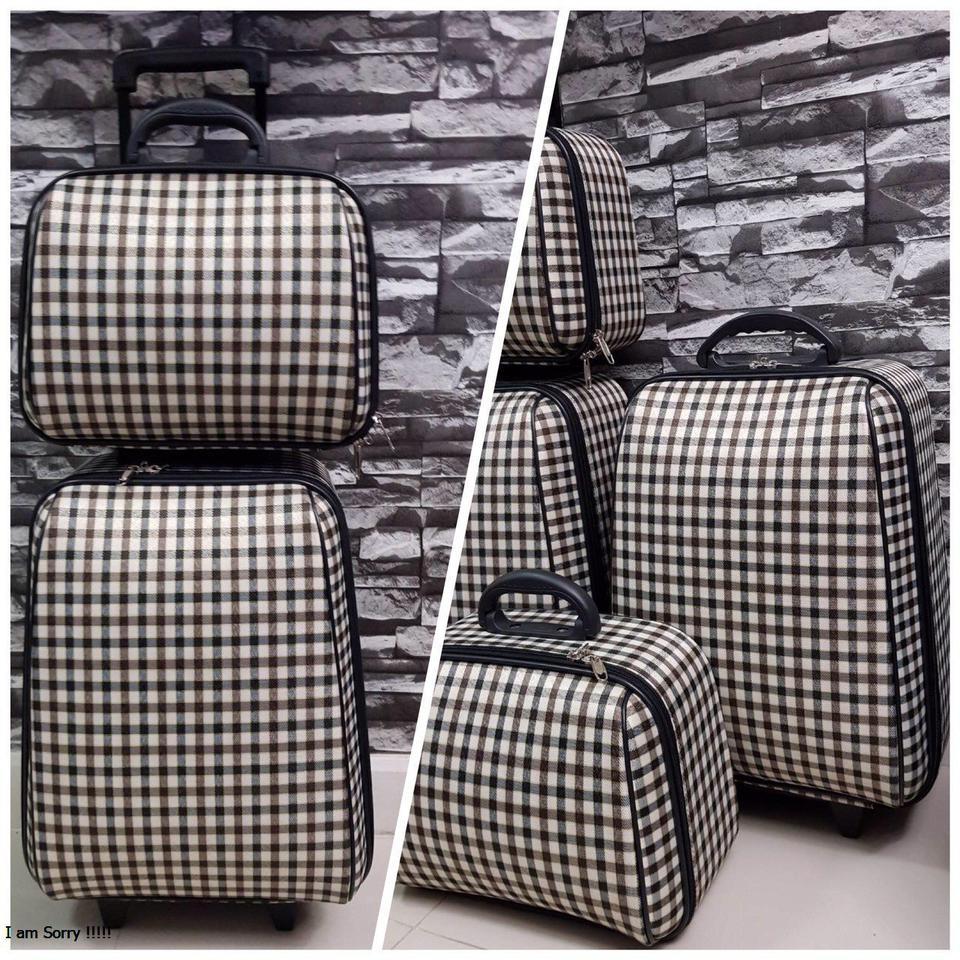 กระเป๋าเดินทางแบบผ้า เซ็ทคู่ 18/13 นิ้ว ลาย Khaki/Brown รูปที่ 1