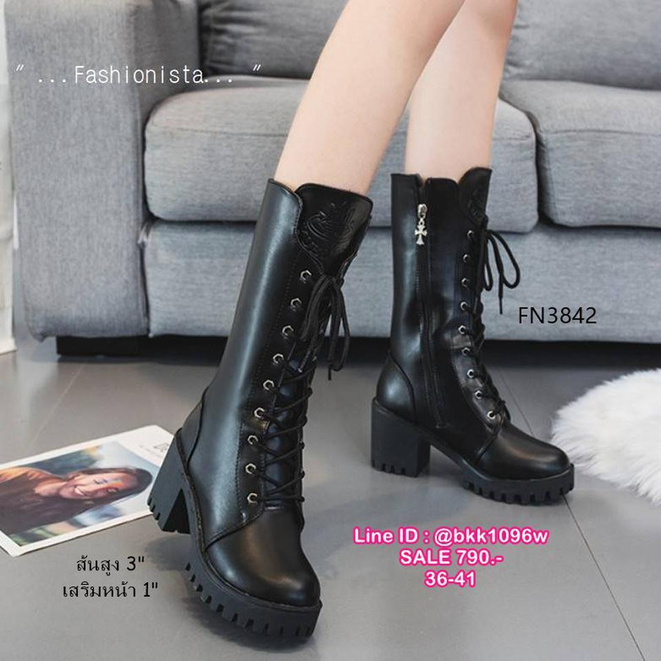 รองเท้าบูทแฟชั่น ทรงสูง มีซิปข้างถอดใส่ง่ายมาก วัสดุหนัง pu คุณภาพดี รูปที่ 5