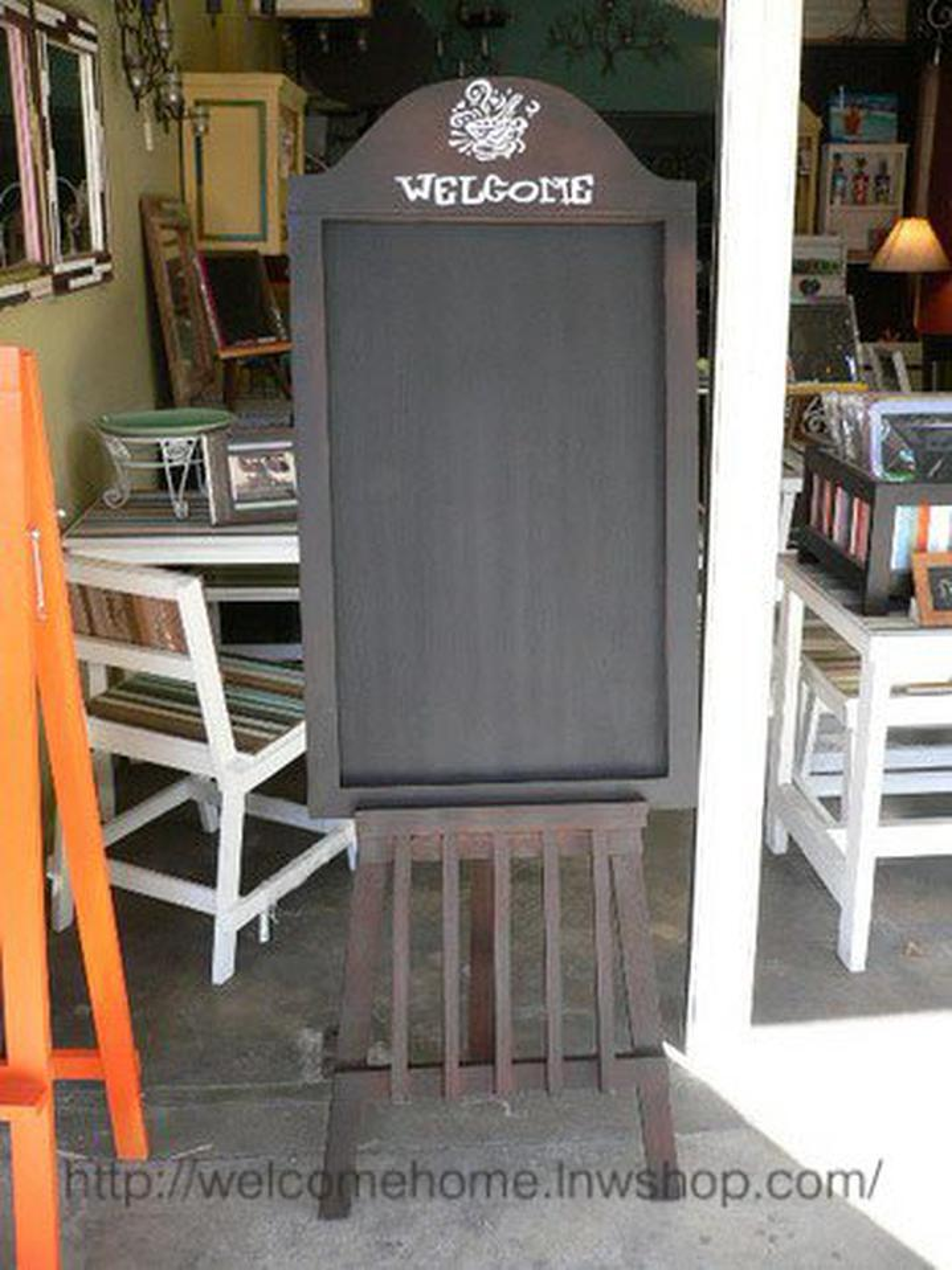 กระดานดำตั้งพื้น ของตกแต่งหน้าร้านขายของเก๋ๆครับ รูปที่ 1