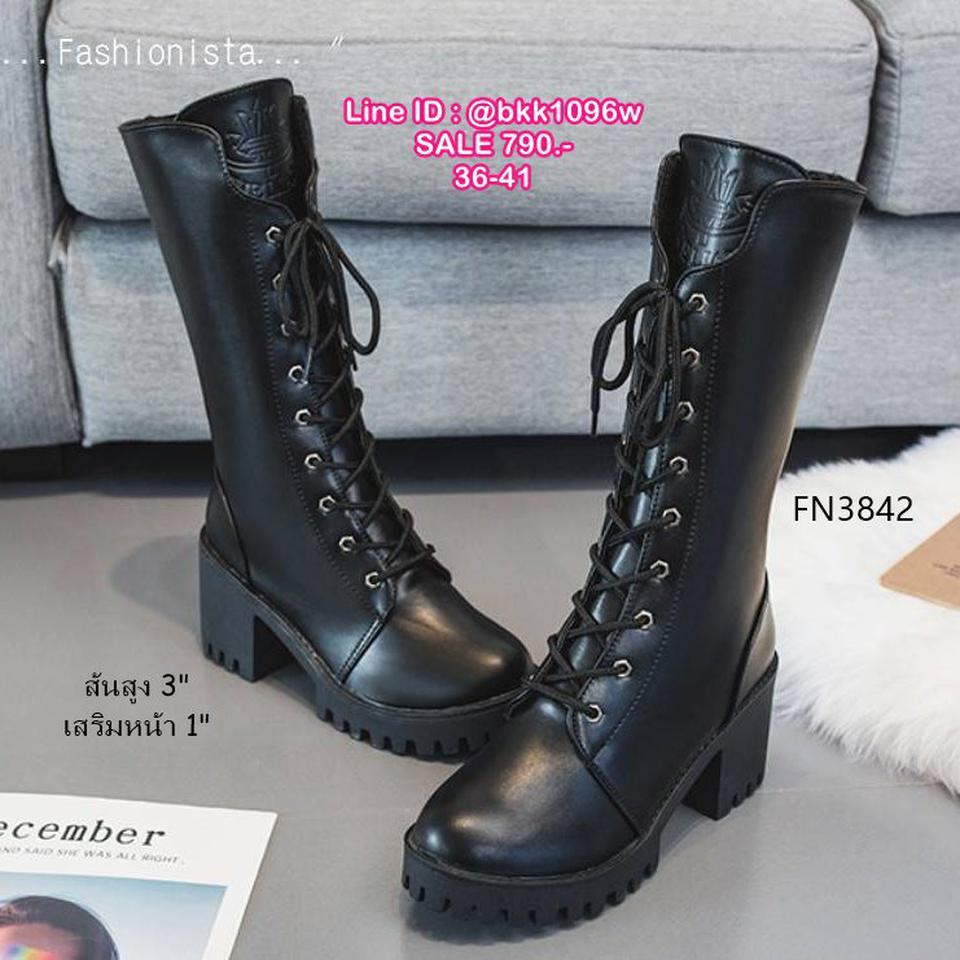 รองเท้าบูทแฟชั่น ทรงสูง มีซิปข้างถอดใส่ง่ายมาก วัสดุหนัง pu คุณภาพดี รูปที่ 6