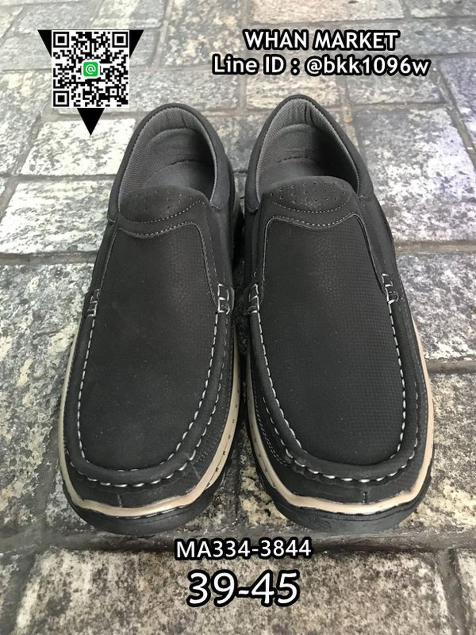 รองเท้าหนังผู้ชาย แบบสวม ทรงคัชชู วัสดุหนัง PU คุณภาพดี  รูปที่ 3