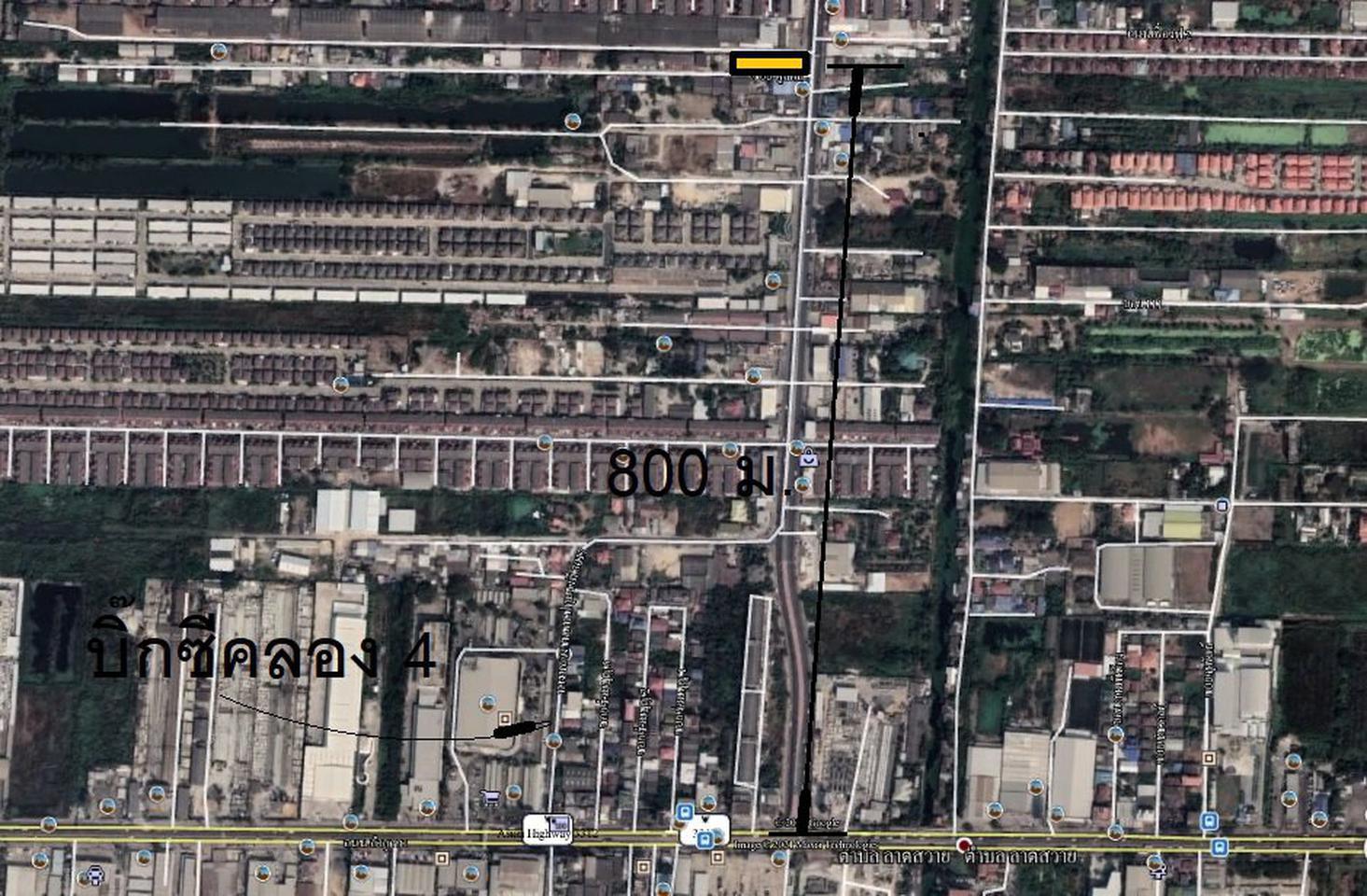 ที่คลอง4 ลำลูกกา ติดถนนใหญ่ 364 ตร.วา กว้าง 16 ม. 25 ล้านบาท รูปที่ 5