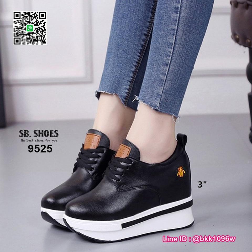รองเท้าผ้าใบเสริมส้น 3 นิ้ว วัสดุหนัง pu คุณภาพดี  มีเชือกผู รูปที่ 6
