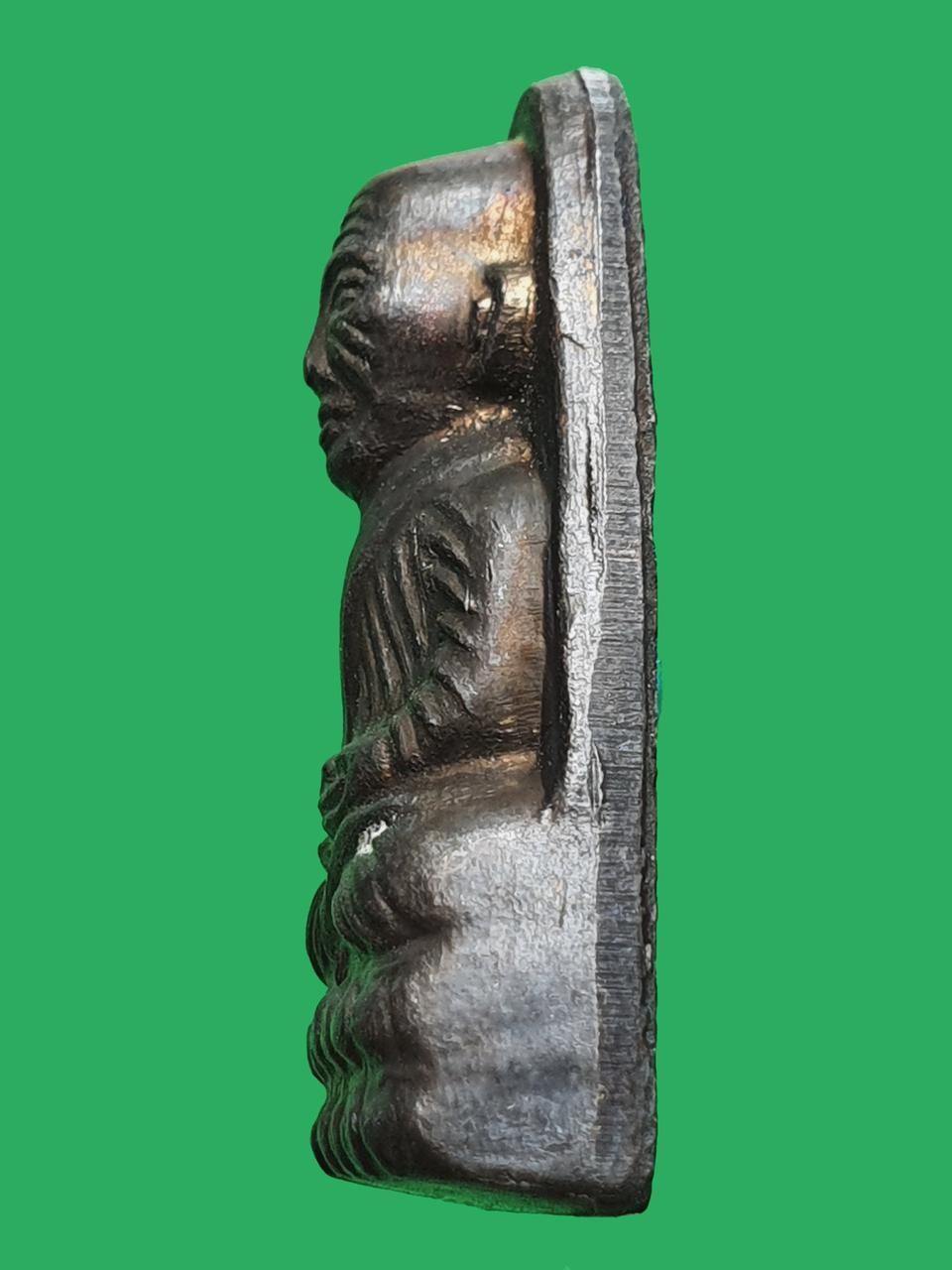 พระหลวงปู่ทวด เตารีดหลังหนัง พิมพ์เล็ก ท. วัดช้างให้ ปี 2506 รูปที่ 4
