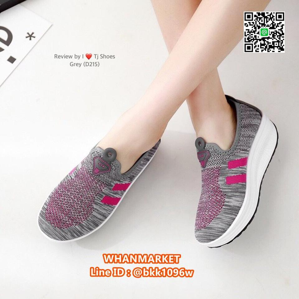 รองเท้าผ้าใบ เสริมส้น 2 นิ้ว วัสดุผ้าใบอย่างดี พื้นยาง  รูปที่ 5