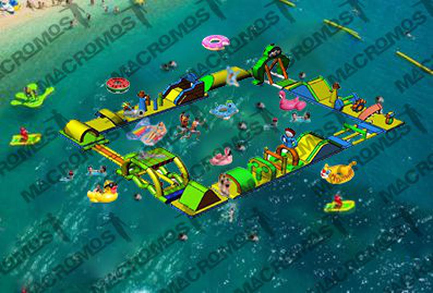เครื่องเล่นสวนน้ำ obstacle game 20X15M เครื่องเล่นสวนน้ำ อุปสรรค 20X15M รูปที่ 1