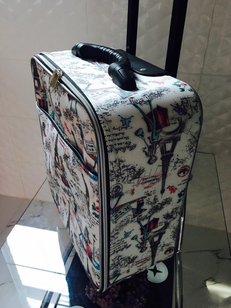 กระเป๋าเดินทางแบบผ้า ลายหอไอเฟล 16 นิ้ว รูปที่ 3