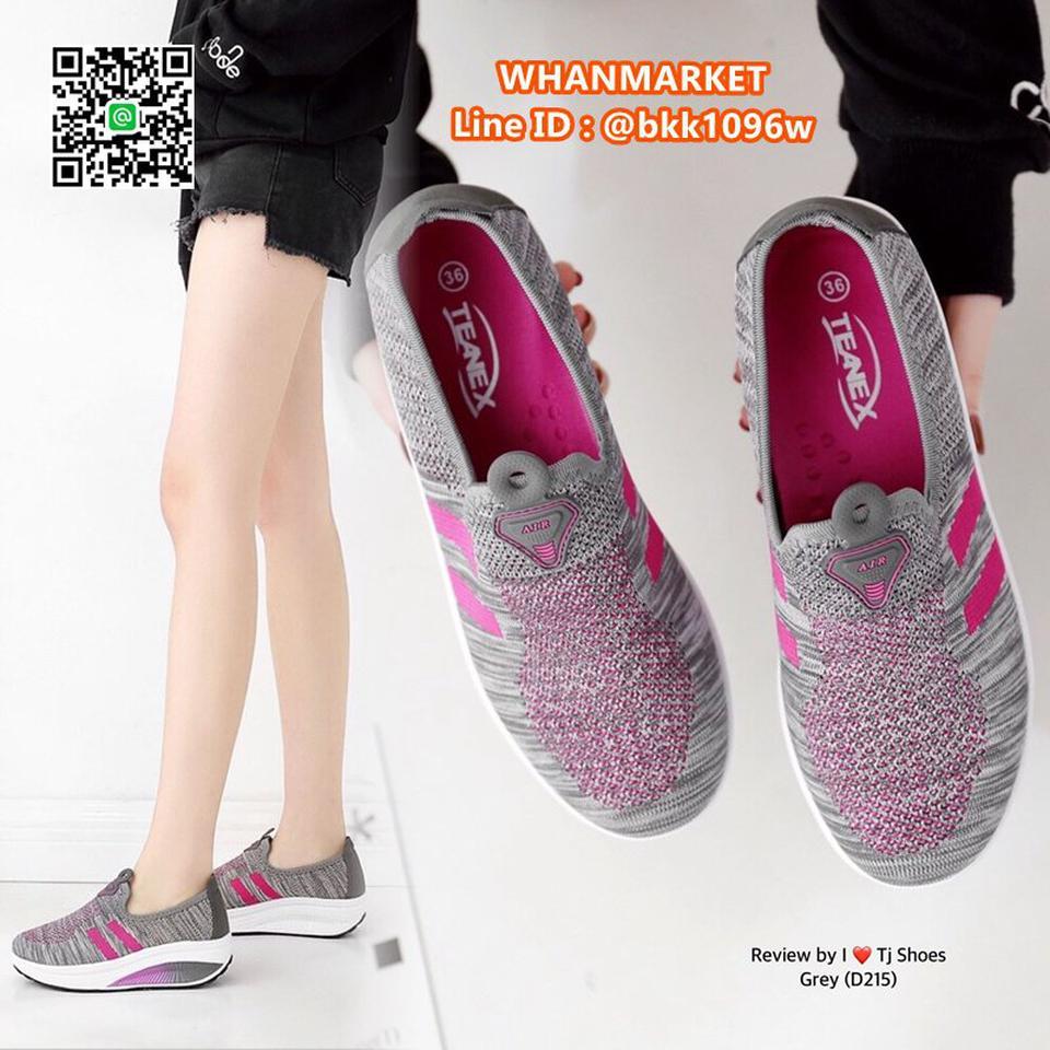 รองเท้าผ้าใบ เสริมส้น 2 นิ้ว วัสดุผ้าใบอย่างดี พื้นยาง  รูปที่ 2