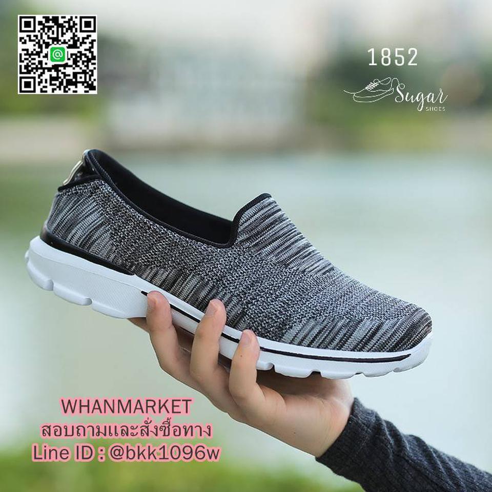 รองเท้าผ้าใบ แบบสวม ทำจากผ้ายืดทออย่างดี  พื้นนิ่มและเบามาก รูปที่ 4
