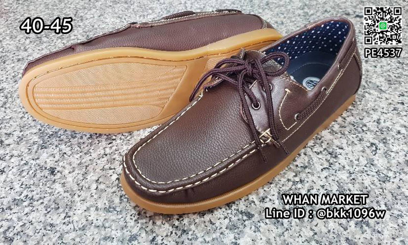 รองเท้าคัชชูหนังผู้ชาย boat shoes วัสดุหนังPU คุณภาพดี  รูปที่ 2